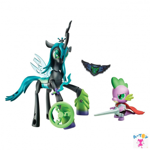 купить Игровой набор My Little Pony Guardians of Harmony Спайк и Королева Кризалис
